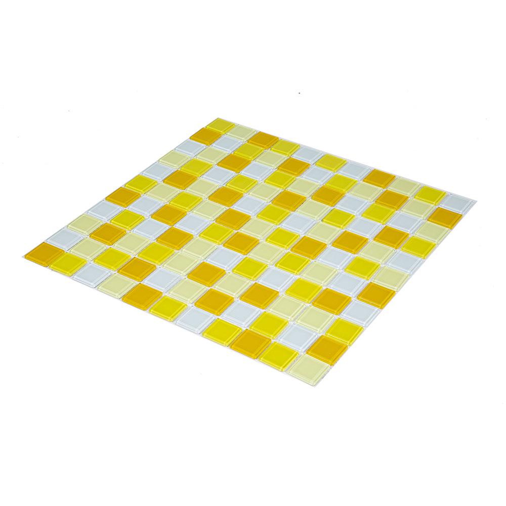 Pastilha Vidro Lisa 2m² Mix Amarela