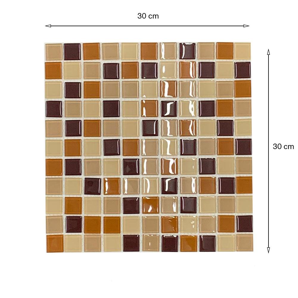 Pastilha Vidro Lisa 2m² Mix Marrom