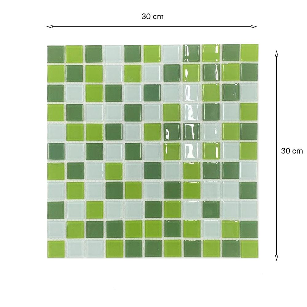 Pastilha Vidro Lisa 2m² Mix Verde