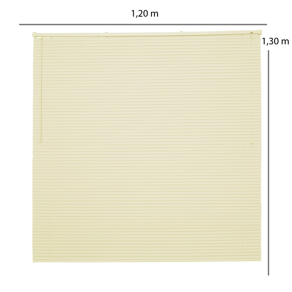 Persiana Evolux Horizontal OFF - 1,20x1,30m - Bege