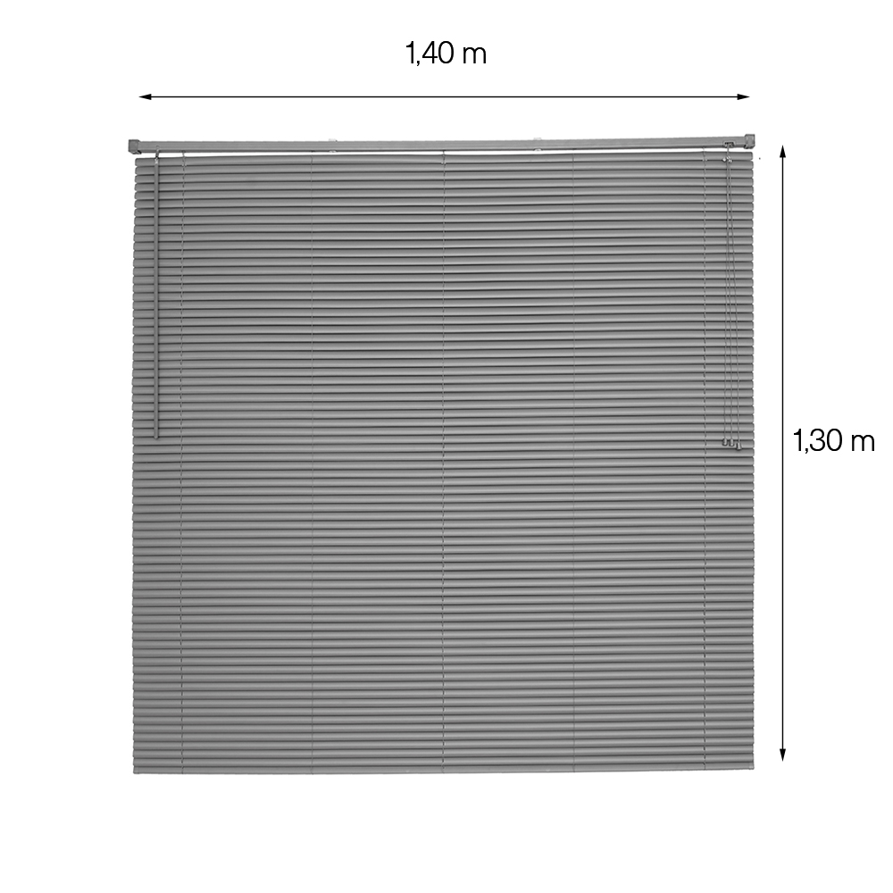 Persiana Evolux Horizontal OFF - 1,40x1,30m - Chumbo