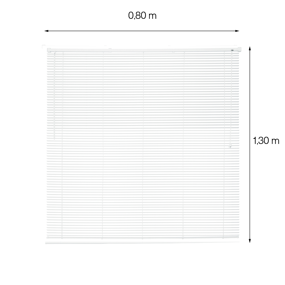 Persiana Horizontal de PVC - OFF - 0,80x1,30m - Branca