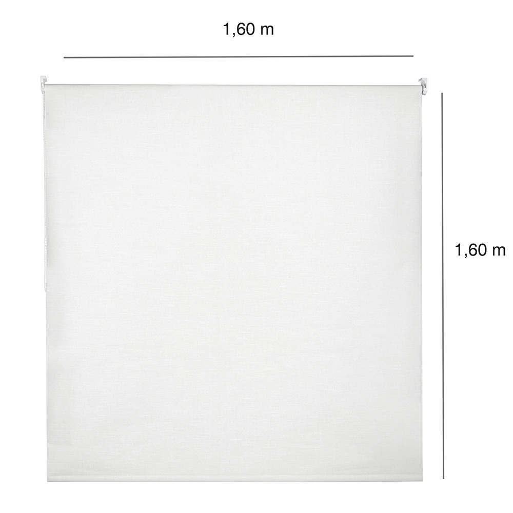 Persiana Rolô Blackout Corta Luz Nouvel - 1,60x1,60m Branca