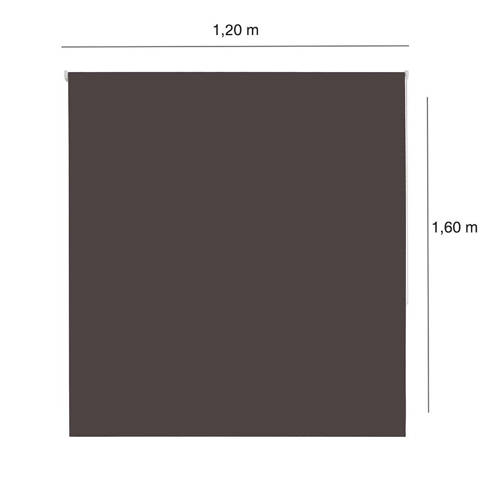 Persiana Rolô Blackout Nouvel - 1,20x1,60m - Chocolate