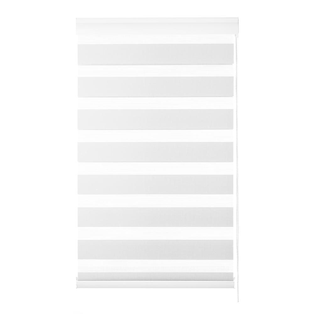 Persiana Rolô Rainbow Zebra Evolux  - 1,60X1,60 -  Branca