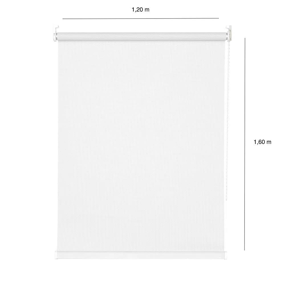 Persiana Rolô Solar Screen - 1,20x1,60m - Branca - Teste