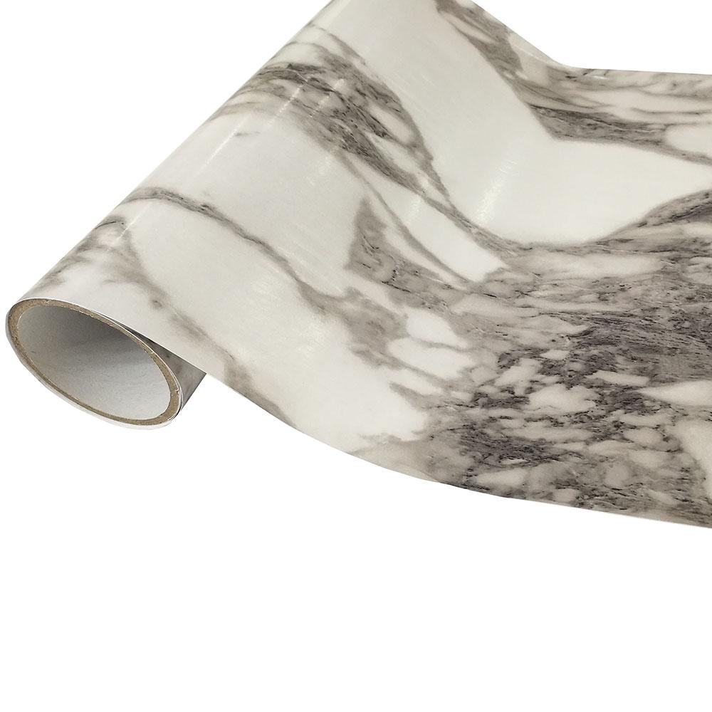 Revestimento Autoadesivo Rolo com 2m - Marmore Cinza Escuro