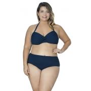 Calcinha Plus Size Drapeada Agridoce Marinho