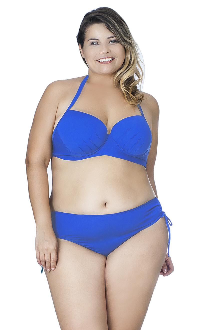 Calcinha Plus Size com Tirinhas Laterais Agridoce Azul Royal
