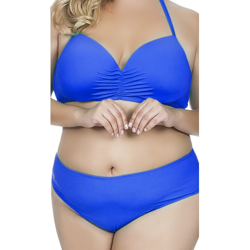 Top Plus Size Meia Taça Inteiriço Agridoce Azul Royal