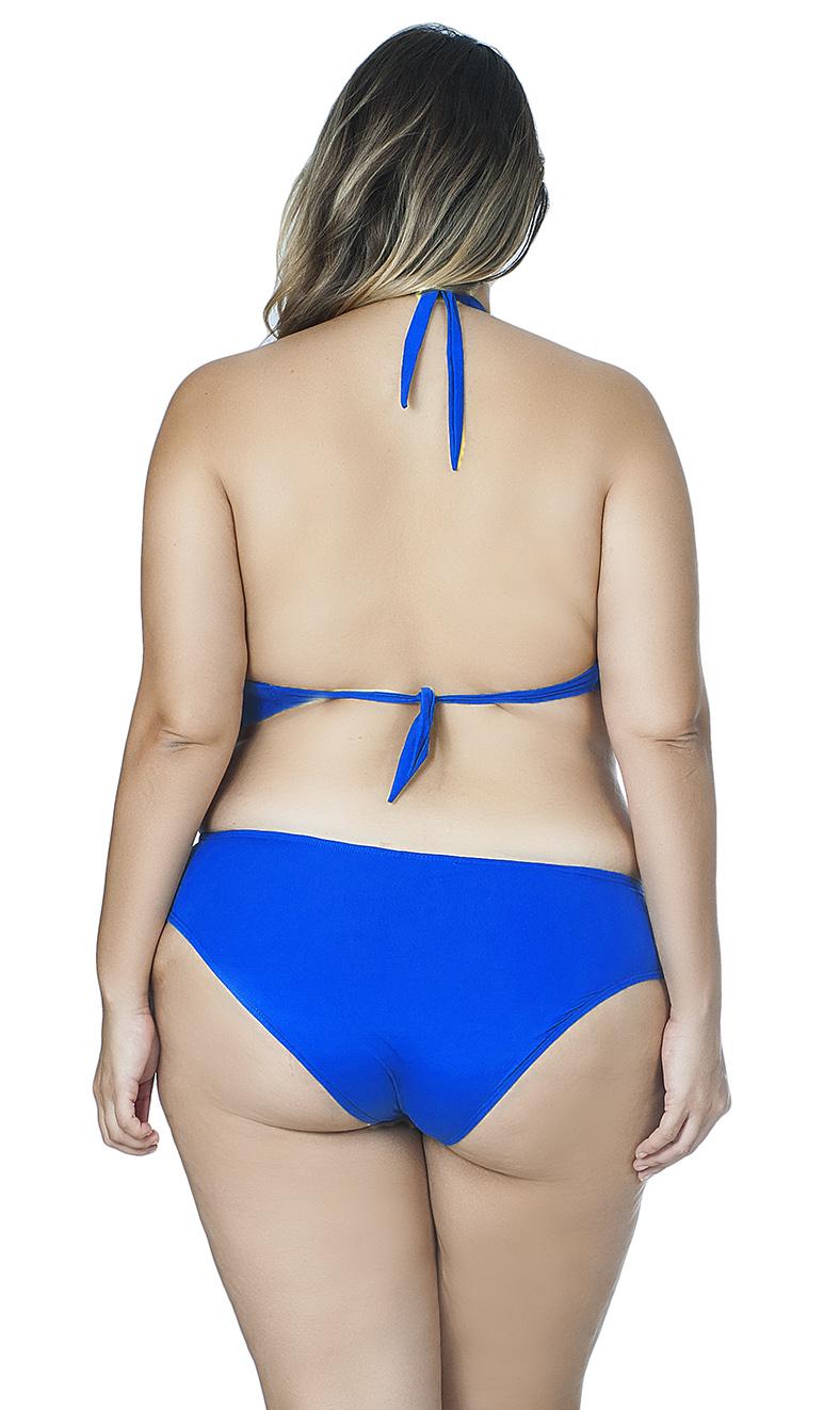 Top  Plus Size Meia Taça Reforçado Agridoce Azul Royal