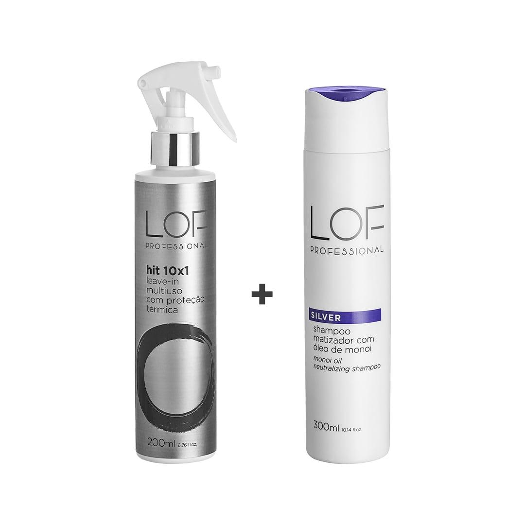 LOF Professional Kit - Shampoo Silver 300mL + Hit 10x1 200mL
