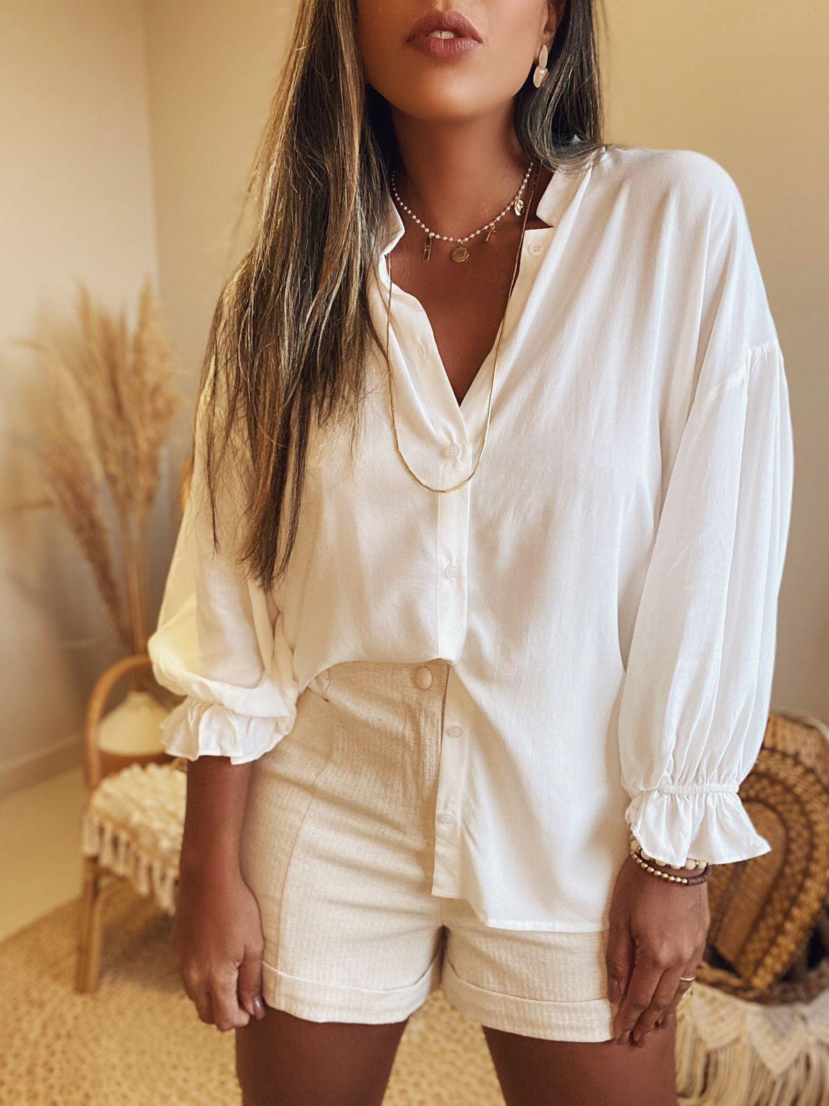Blusa Camisa Ampla