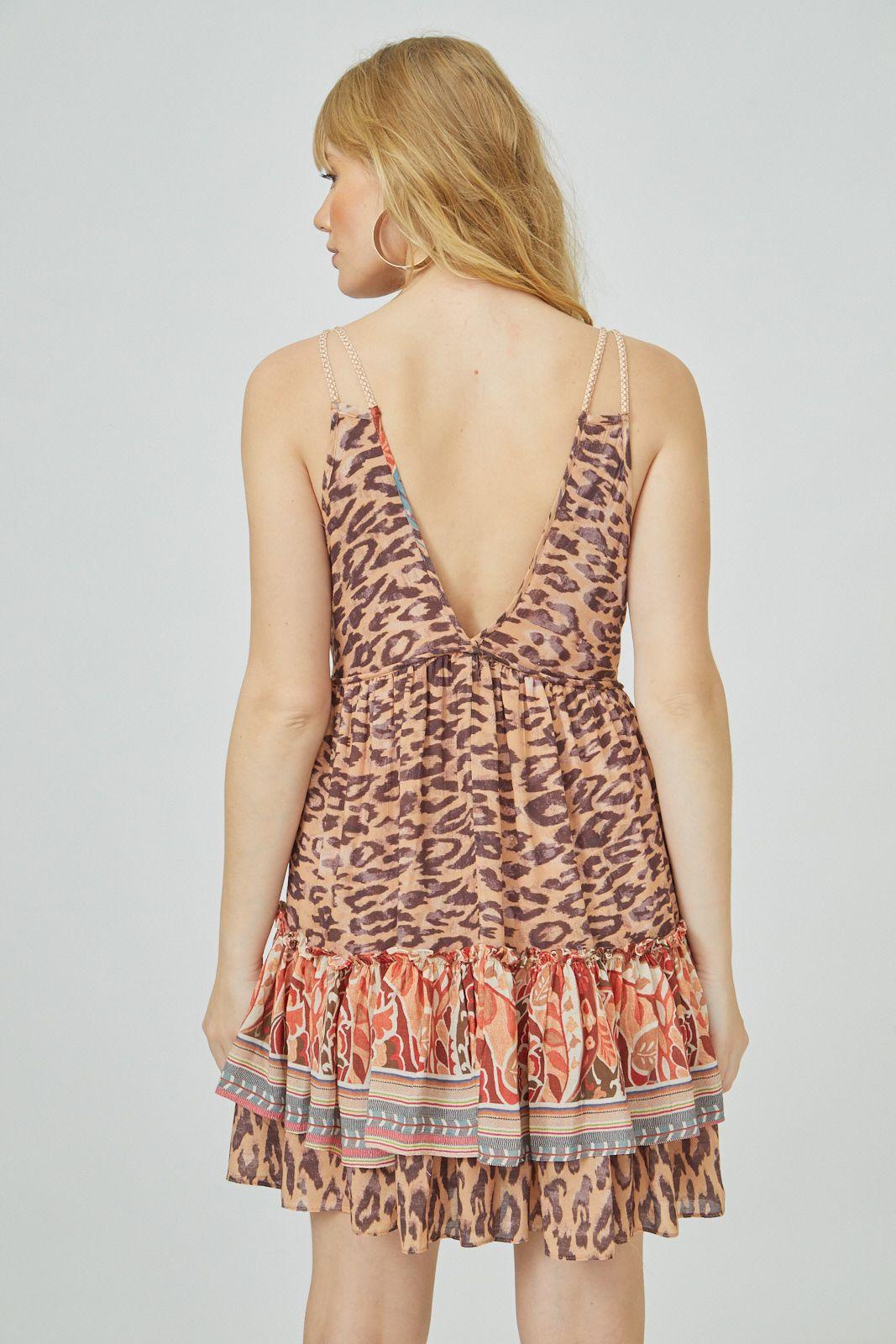 Vestido Crt Animal Print