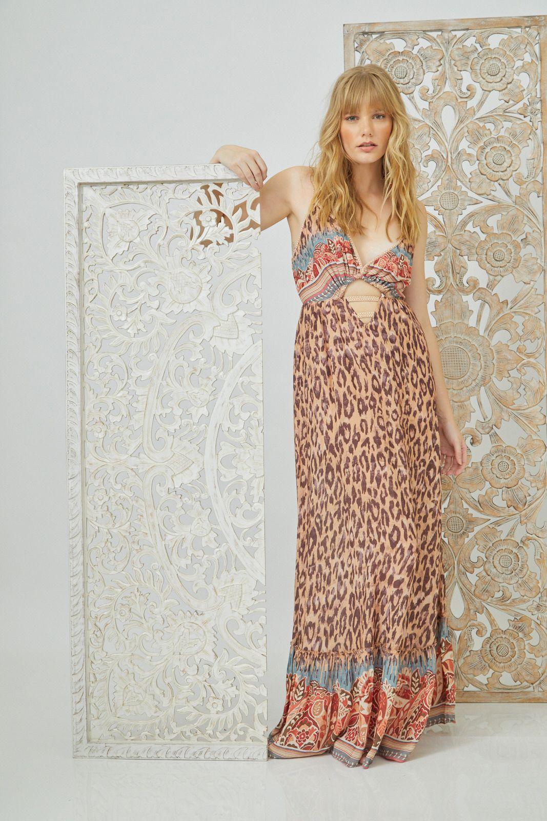 Vestido lg Animal Print