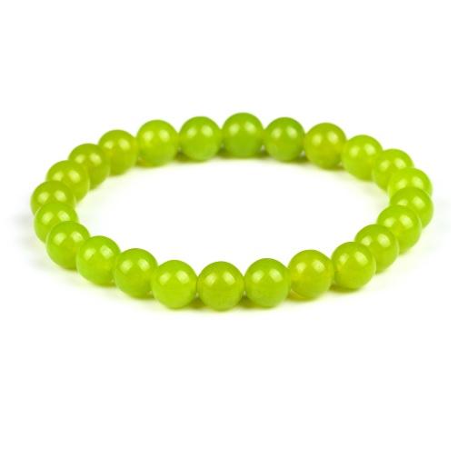 Pulseira Contas de Bolinhas 8 mm de Pedras Naturais Verde