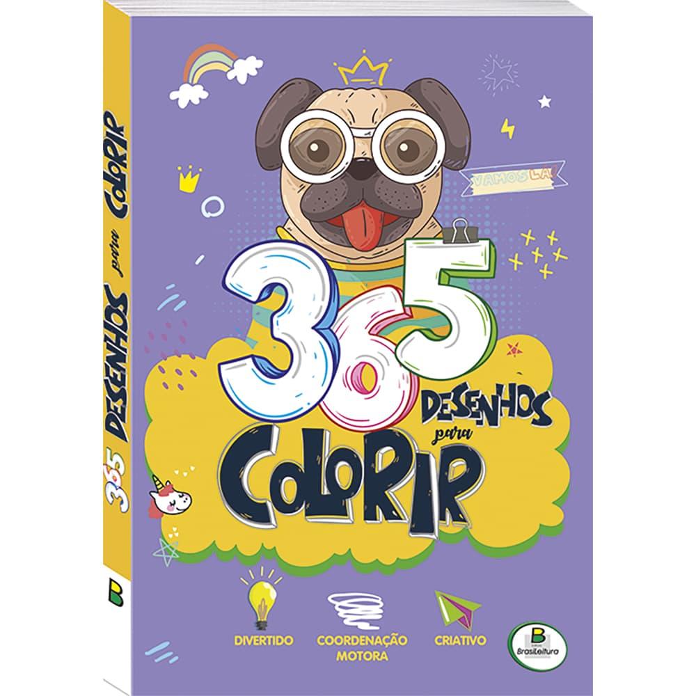 365 Desenhos para Colorir (Roxo)