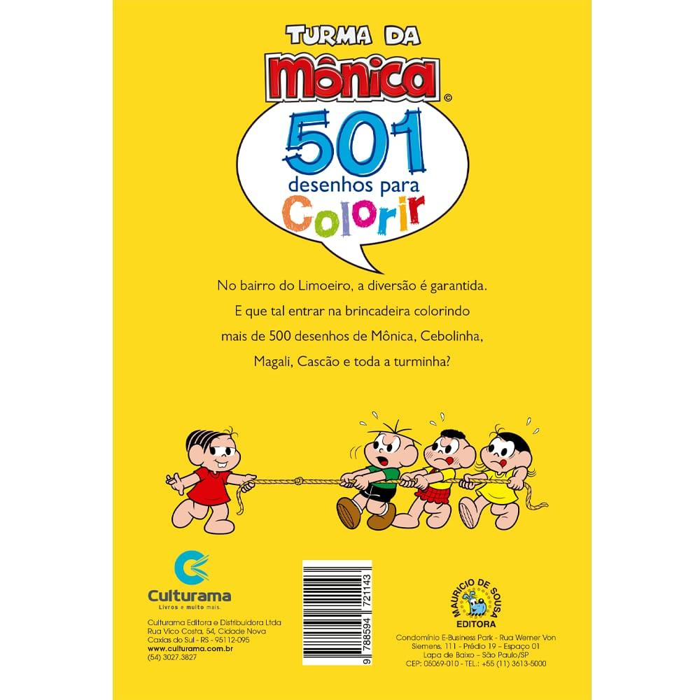 501 Desenhos para Colorir Turma da Mônica