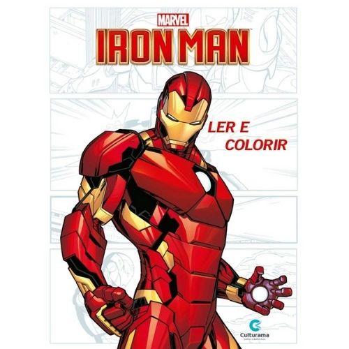 Iron Man - Ler e Colorir