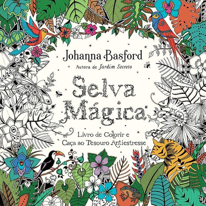 Selva Mágica - Livro de Colorir e Caça ao Tesouro Antiestresse   Sextante