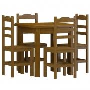 CJ de Mesa 75x75 Imbuia c/ 4 Cadeiras SKU707511