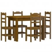 Conjunto de Mesa c/ 4 Cadeiras Imbuia SKU711511