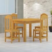 Mesa 1,20 x 88 Com 4 Cadeiras Safira Cor Cerejeira