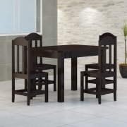 Mesa 1,20 x 88 Com 4 Cadeiras Safira Cor Preto