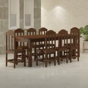 Mesa 2,20 x 88 com Cadeiras Safira Cor Castanho