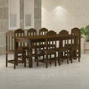 Mesa 2,20 x 88 com Cadeiras Safira Cor Imbuia