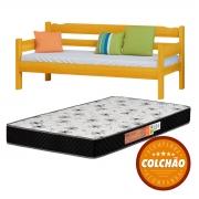 Sofa Cama Cor Cerejeira + Colchao