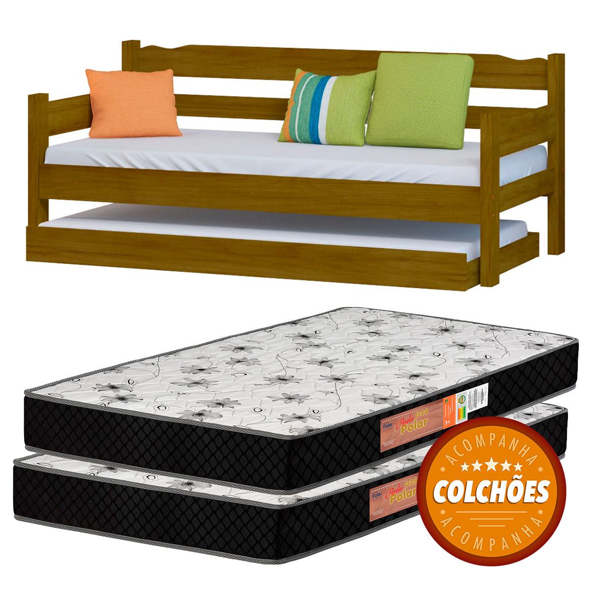 Bicama Cor Imbuia + 2 Colchoes