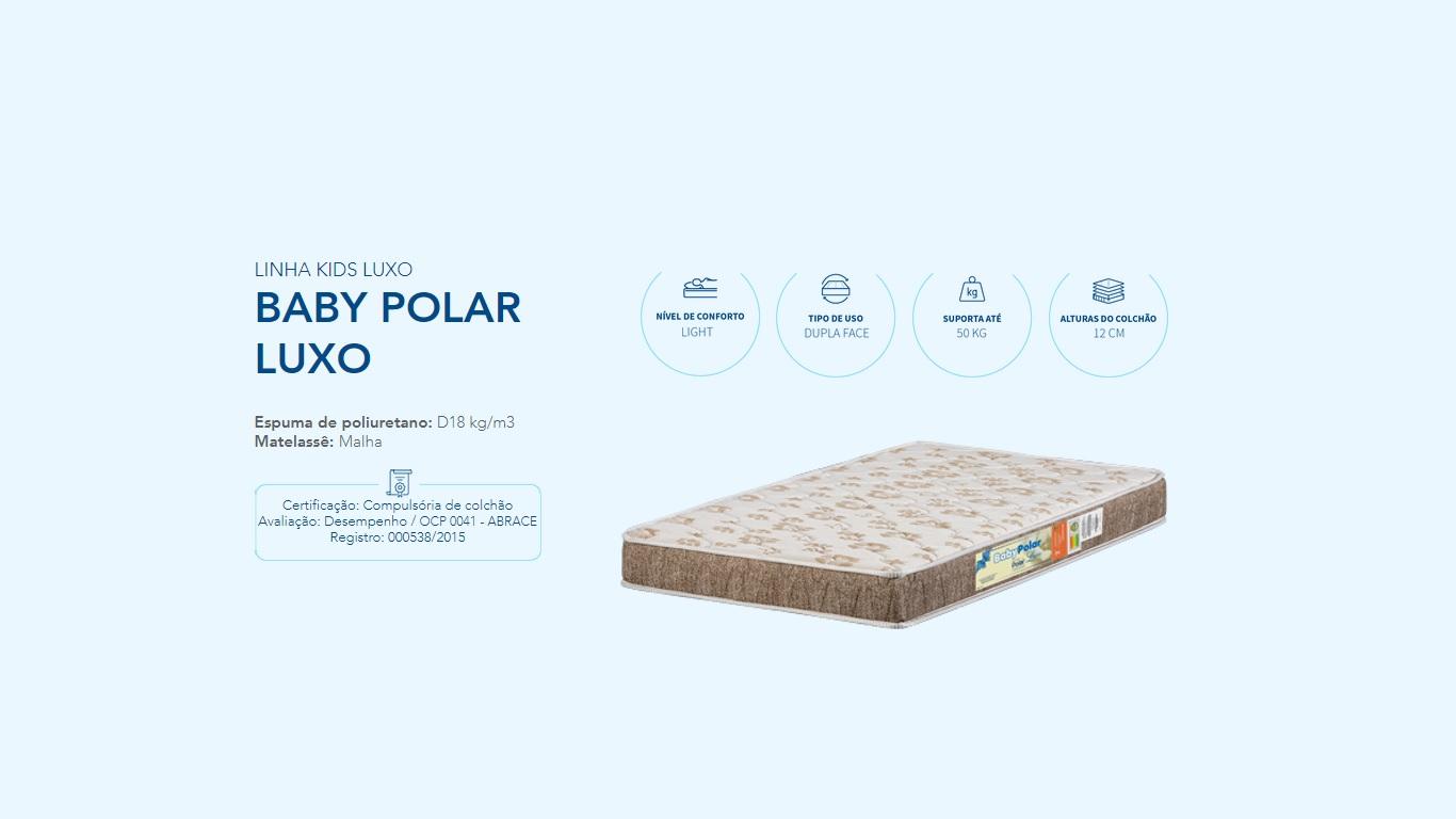 Colchao Berco Baby Polar Luxo D18 70X130X12