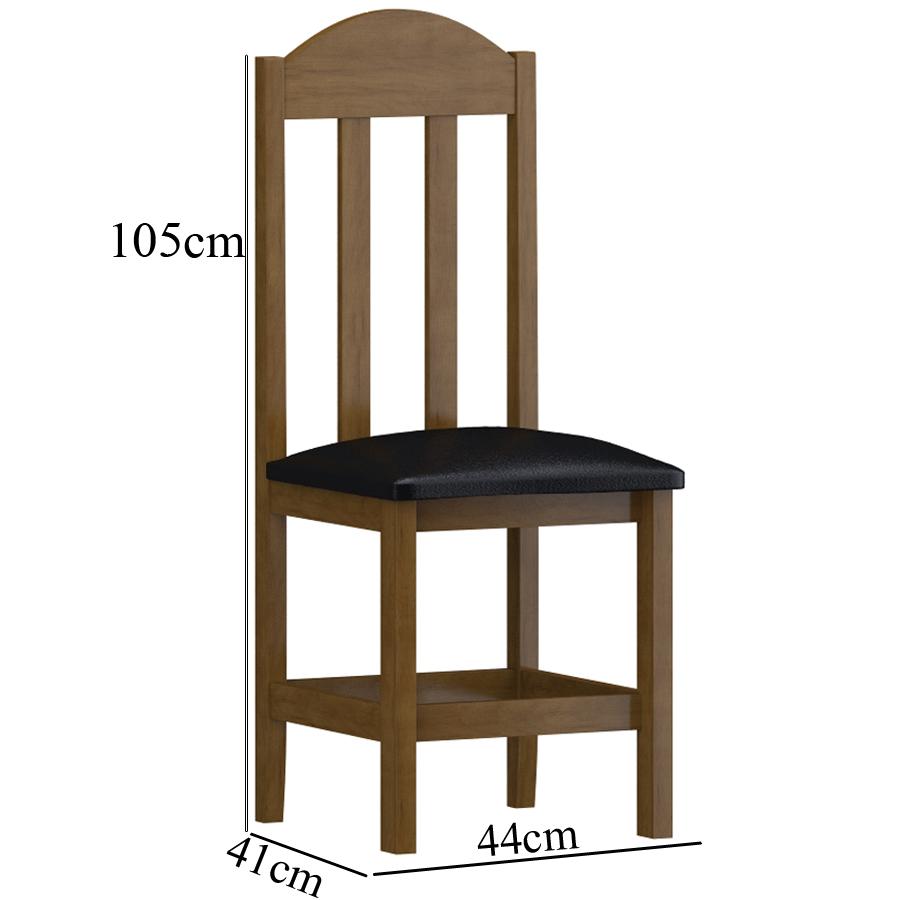 kit 2 Cadeiras Imbuia Estofado Preto SKU810511