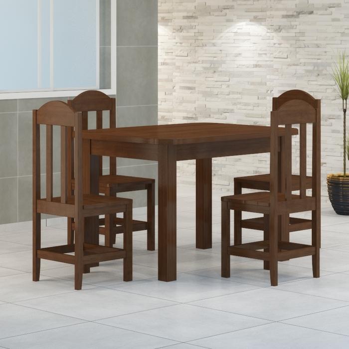 Mesa 1,20 x 88 Com 4 Cadeiras Safira Cor Castanho
