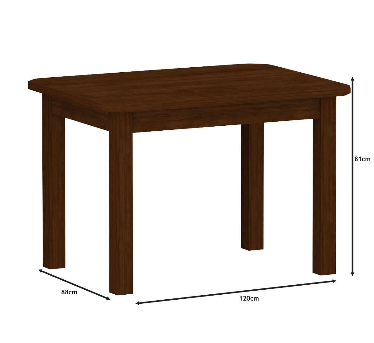 Mesa 1,20x88 C/ 4 Cadeiras Safira Cor Castanho Estofado Bege