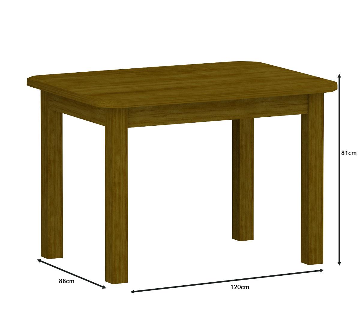 Mesa 1,20x88 Com 4 Cadeiras Safira Cor Imbuia Estofado Preto