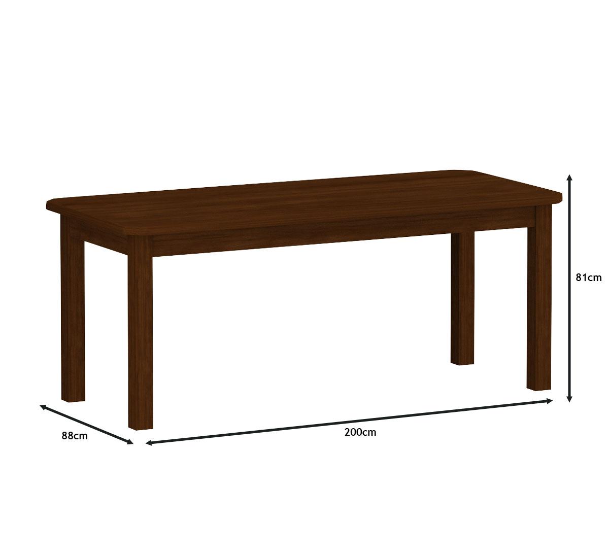 Mesa 2,00 x 88 com 8 Cadeiras Safira Cor Castanho