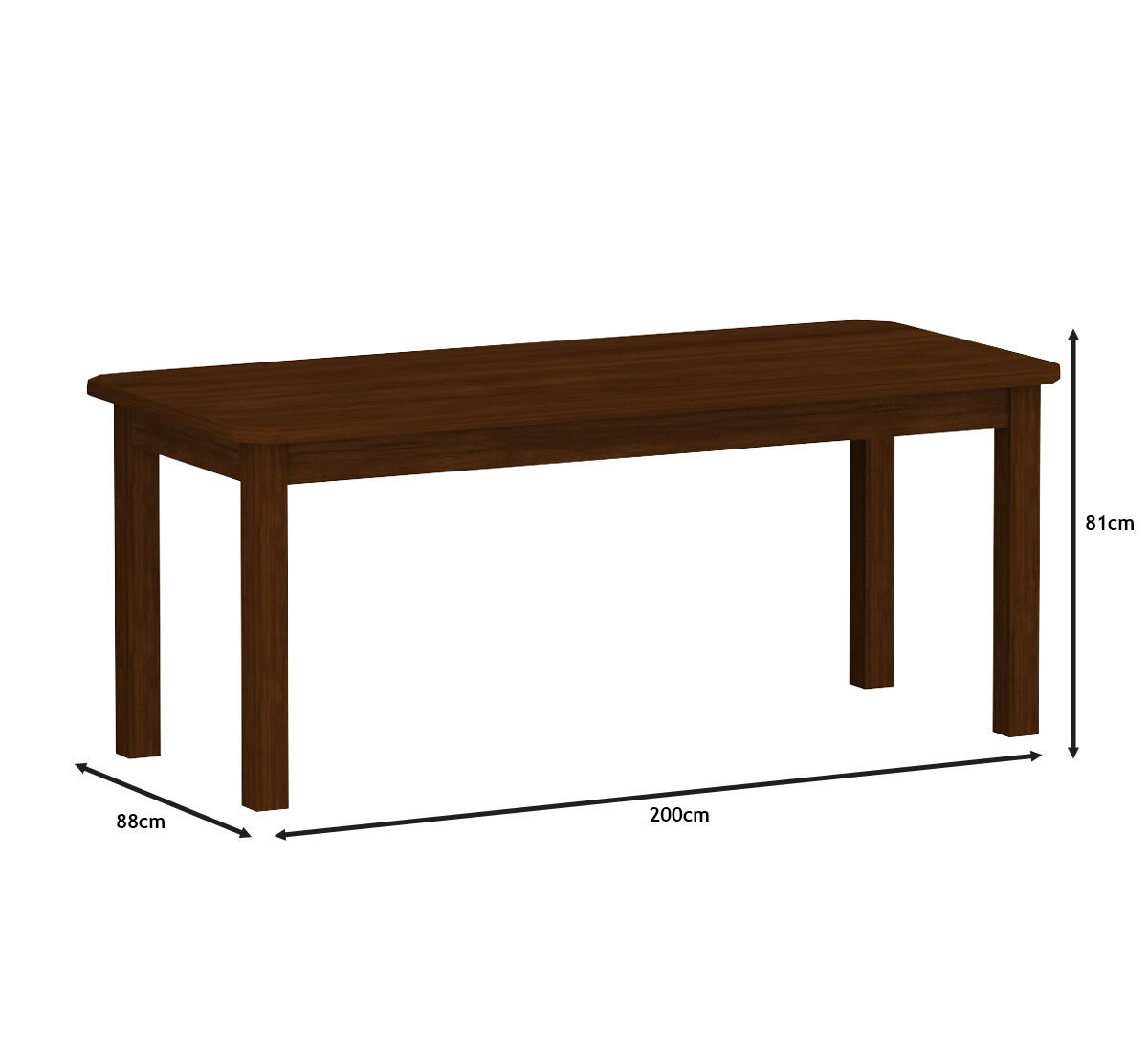 Mesa 2,00x88 c/ 8 Cadeiras Safira Cor Castanho Estofado Bege