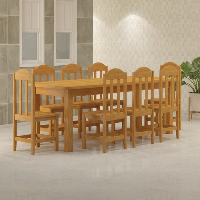 Mesa 2,20 x 88 com Cadeiras Safira Cor Cerejeira