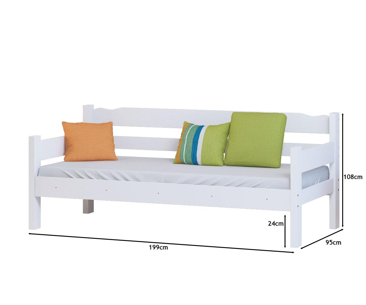 Sofa Cama Cor Branco + Colchão