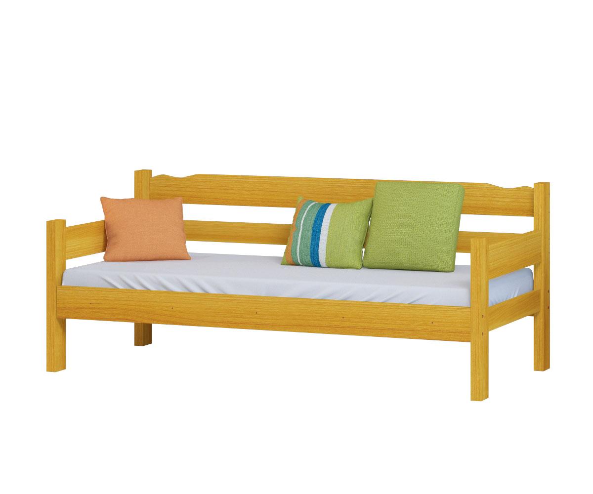 Sofa Cama de Madeira Maciça Cor Cerejeira