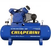 COMPRES.25 pés RCH 250 litros industrial BLUE 5 CV trifásico