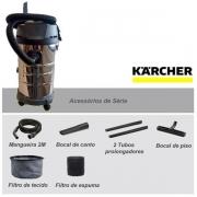 Aspirador de Pó e Líquido NT 3000 Inox - KARCHER 220V