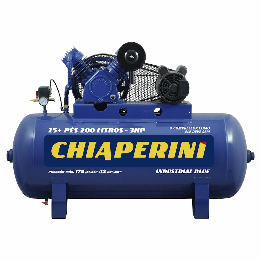 COMPRES.15+ pés 200 litros industrial BLUE 3HP