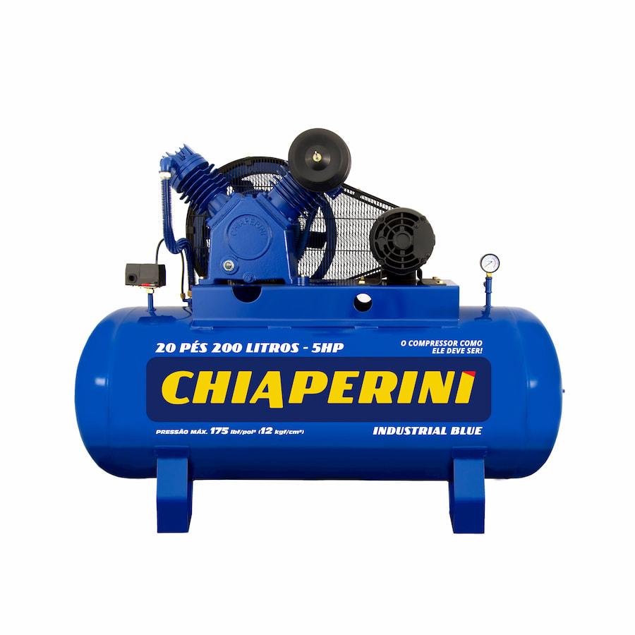 COMPRES. AR CHIAPERINI 20 pés 200 litros industrial BLUE 5HP