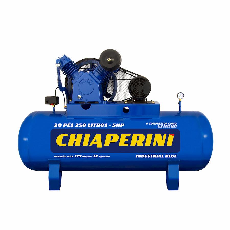 COMPRES. AR CHIAPERINI 20 pés 250 litros industrial BLUE 5HP
