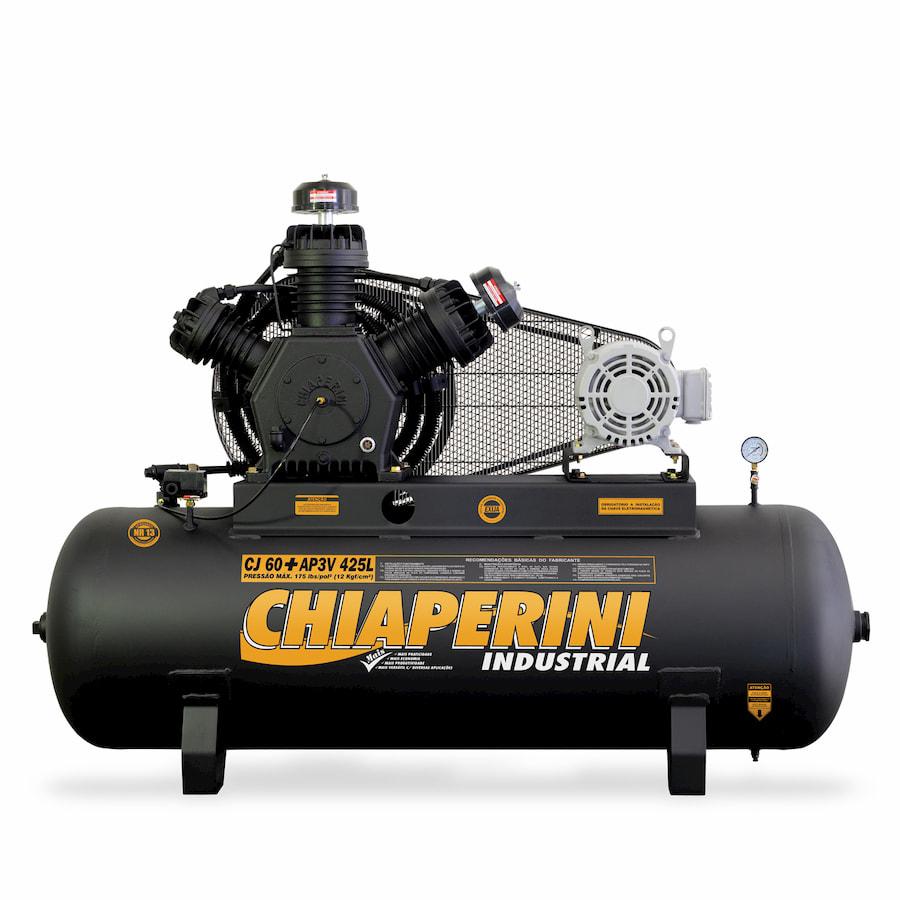 Compressor de ar alta pressão 60 pcm 425 litros - Chiaperini CJ 60+ AP3V 425L