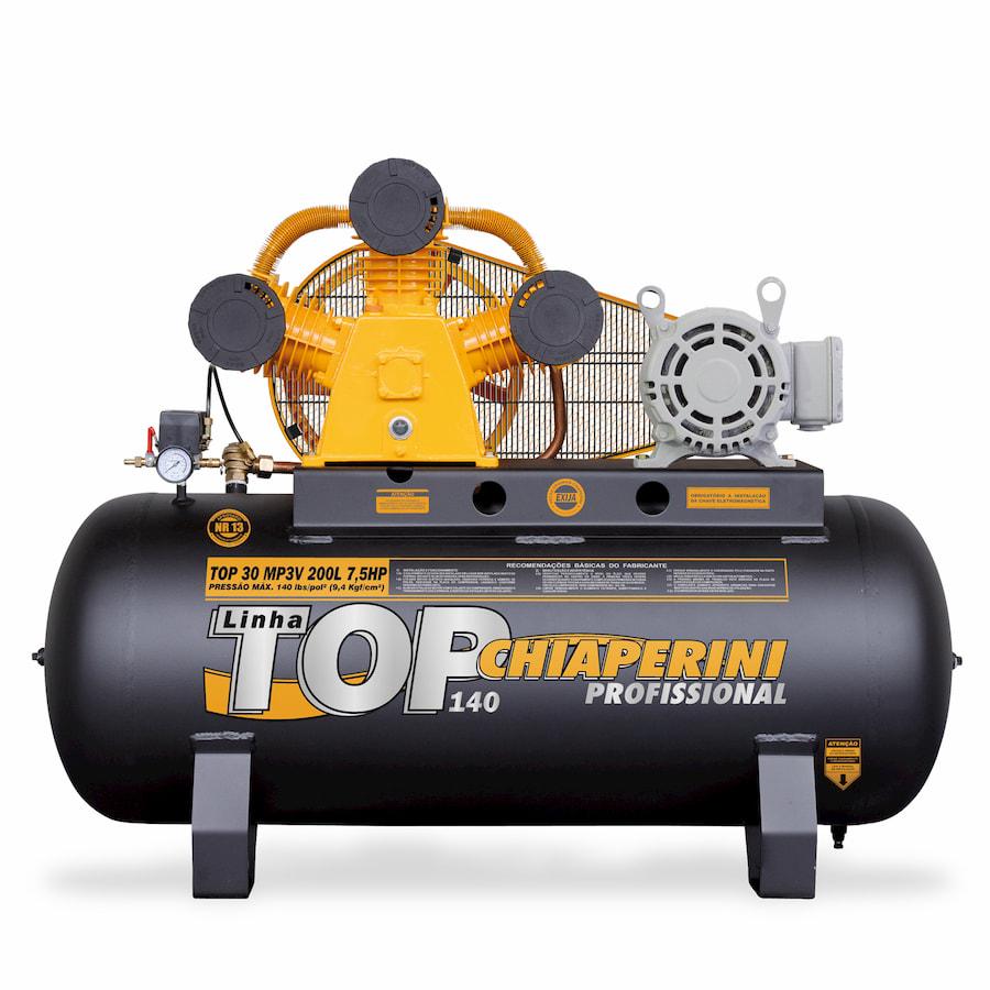Compressor de ar Chiaperini TOP 30 Mp3v sem motor 200 litros