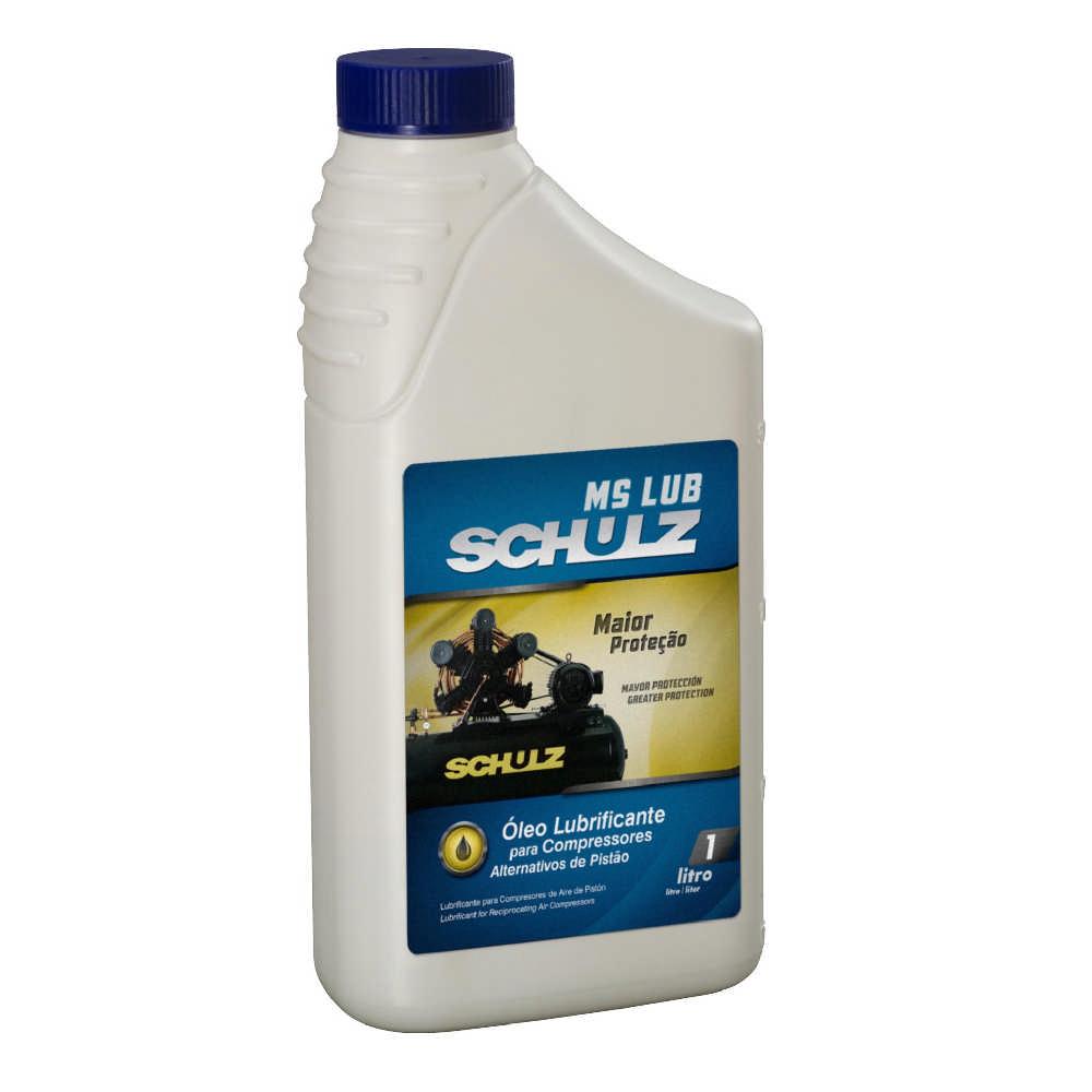 Óleo lubrificante Schulz AW100 1 litro para compressor de pistão